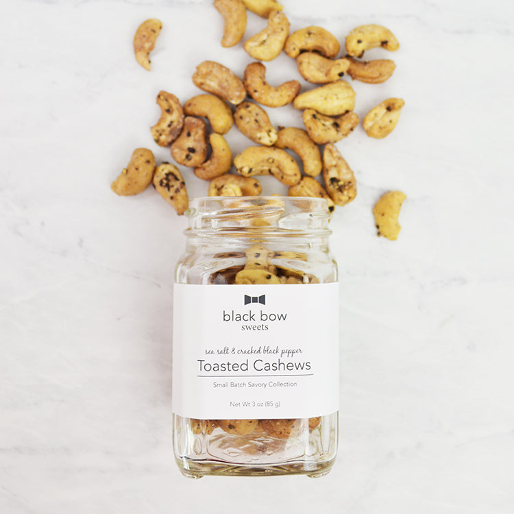 Sea Salt and Cracked Black Pepper Toasted Cashews Jar