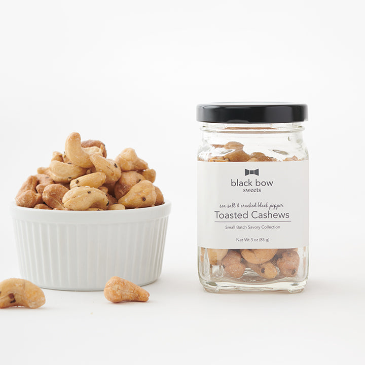 Sea Salt and Cracked Black Pepper Toasted Cashews Jar (Case of 6)