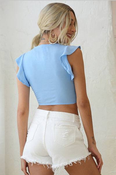 Keep it Simple Tie-Front Crop Top