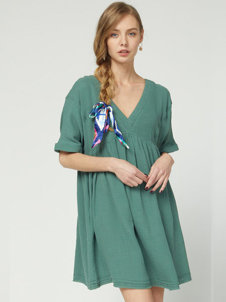 Jade Baby Doll Dress