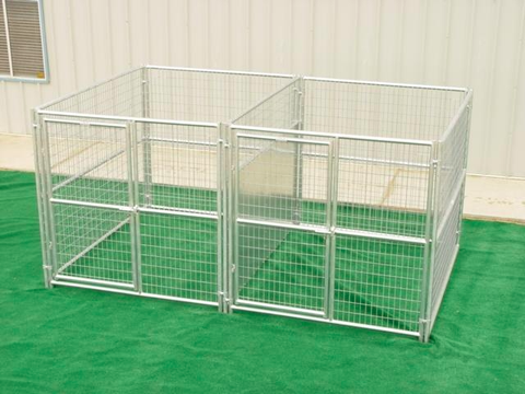 Heavy Duty Outdoor Multiple Run Dog Kennel with Fight Guard Divider