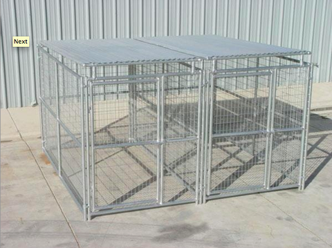 Heavy Duty Outdoor 2 Run Dog Kennel with Roof Shelters