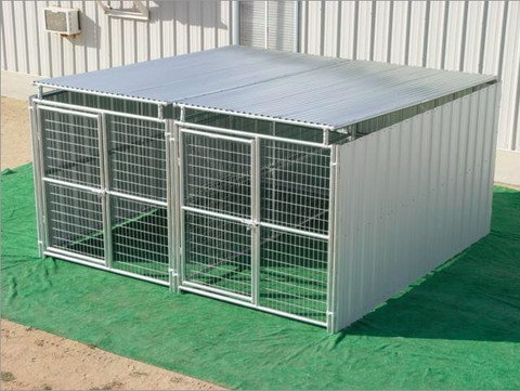 Heavy Duty Outdoor Enclosed Dog Kennel with Roof Shelter-Multiple Run
