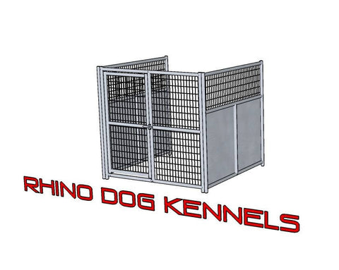 Heavy Duty Indoor/Outdoor Single Run Dog Kennel with Fight Guards 6'W x 6'L x 6'H