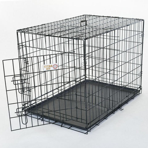 "Majestic Pet Products 42"" Single Door Folding Dog Crate-Large"