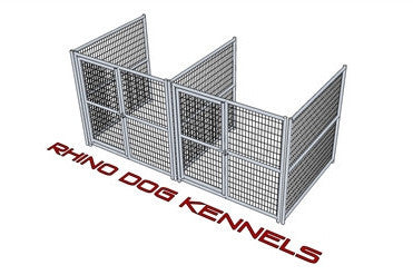 Heavy Duty Indoor/Outdoor Multi-Run Dog Kennel 6'W x 6'L x 6'H