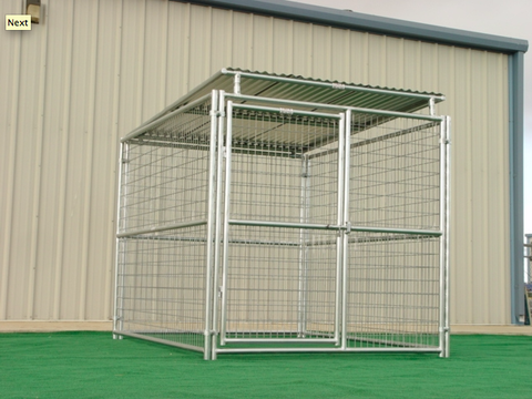 Heavy Duty Outdoor Single Run Dog Kennel with Roof Shelter