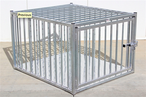 Heavy Duty Indestructible Escape-Proof Steel Dog Crate European Style