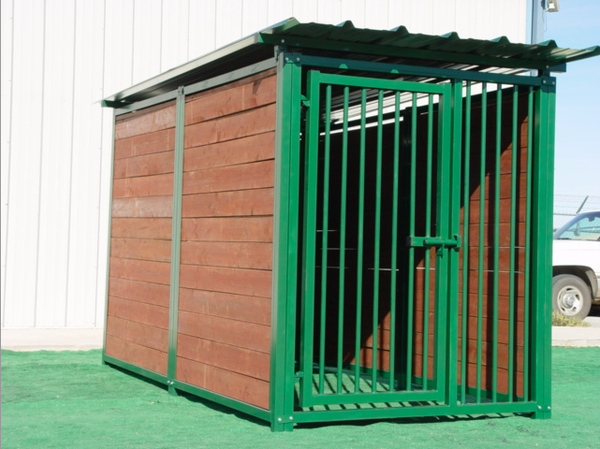 Heavy duty outdoor timberline dog kennel with roof shelter for Outdoor dog kennel kits