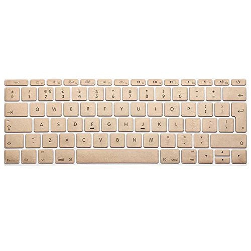 outlet store c8075 0327c Laptop | Se7enline MacBook Pro 13 inch A1708 (No TouchBar) Release 2016  NEWEST Silicone Skin Protective Keyboard Cover (UK Layout), Gold