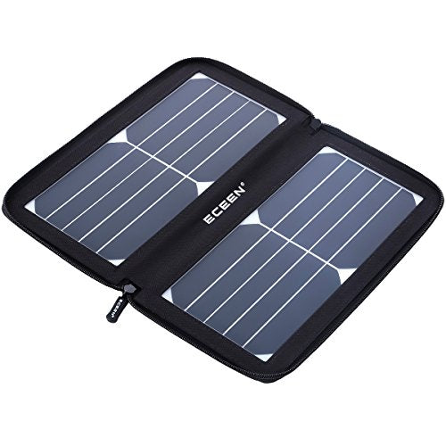 Eceen 10w Solar Panel Charger Solar Phone Charger With Unique Zipper Freelancer At Work