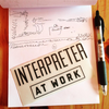 Interpreter at Work / Tall / Decal - translator-at-work.myshopify.com