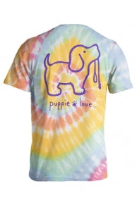 Puppy Love Tie Dye Adult T-Shirt