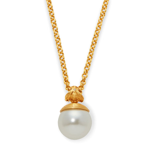 Bee Pearl Pendant Necklace