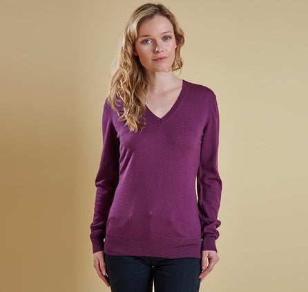 Ladies Classic V-Neck - Damson