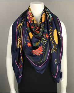 Over Sized Floral Square Scarf