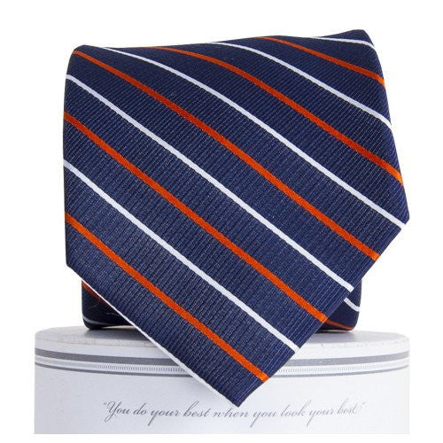 Lewis Tie Navy/Orange - 1SZ