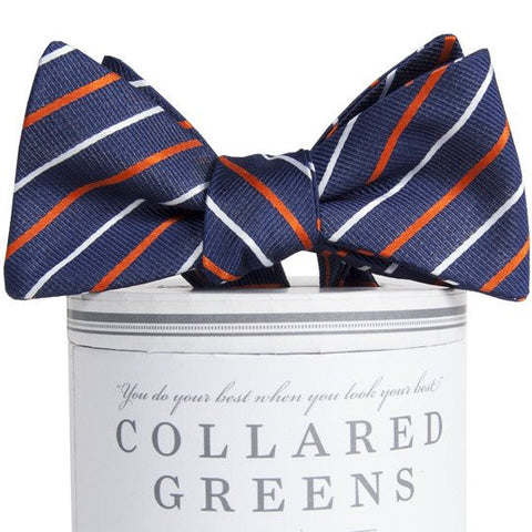 Lewis Bow Tie Navy/Orange - 1SZ