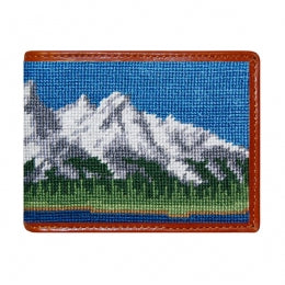 Grand Tetons Needlepoint Bi-Fold Wallet