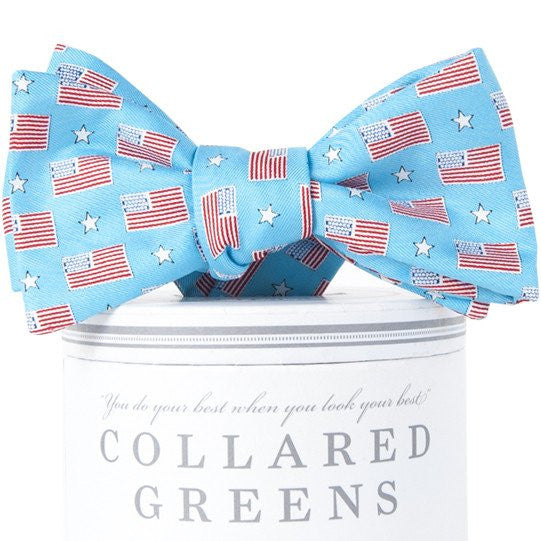 Old Glory Bow Tie Sky Blue - 1SZ
