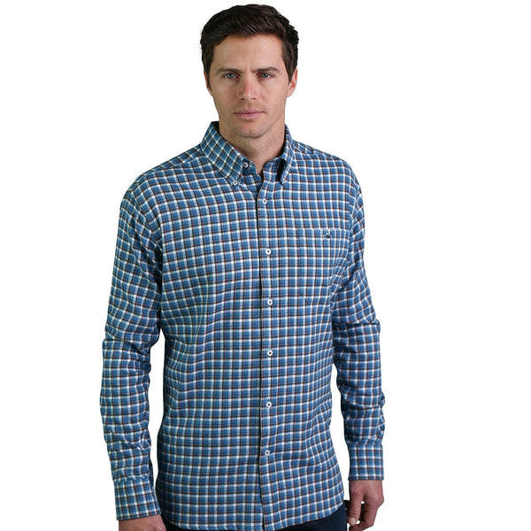 Castor Flannel - Powder Blue