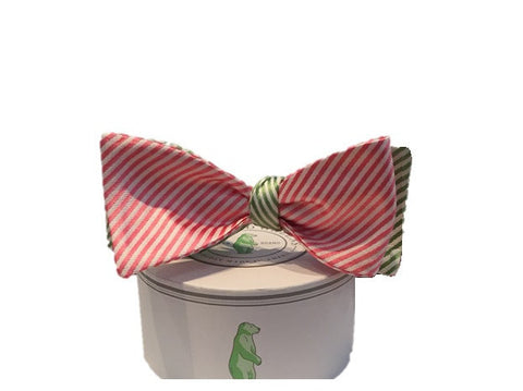 Mixer Bow Tie Pink/Green Stripes - 1SZ