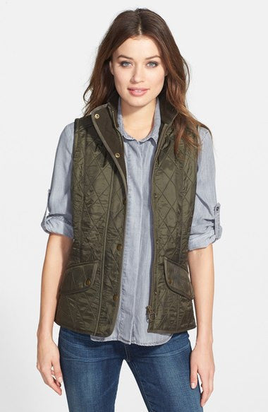 Ladies Cavalry Quilted Gilet - Olive