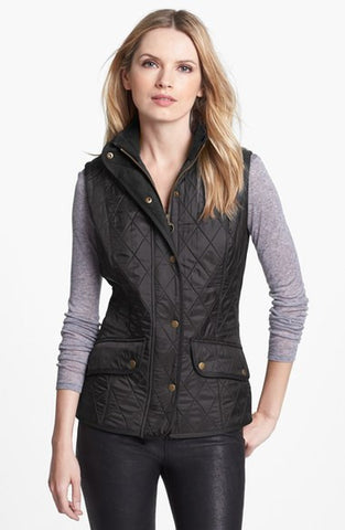 Ladies Cavalry Quilted Gilet - Black