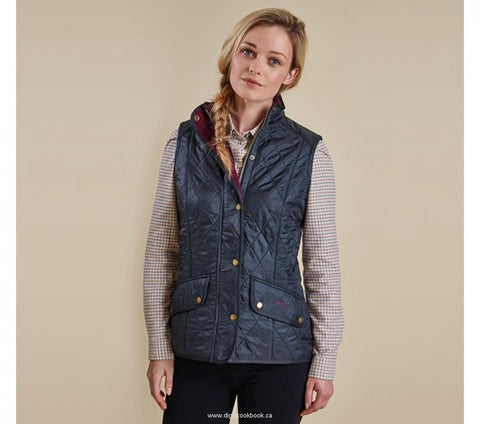 Ladies Cavalry Quilted Gilet - Navy