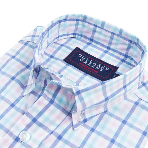 Wilton Button Down-Navy/Pink/Teal/White