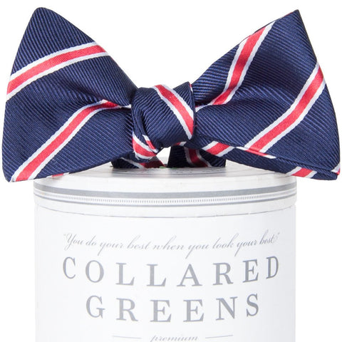Bogart Bow Tie-Navy/Red