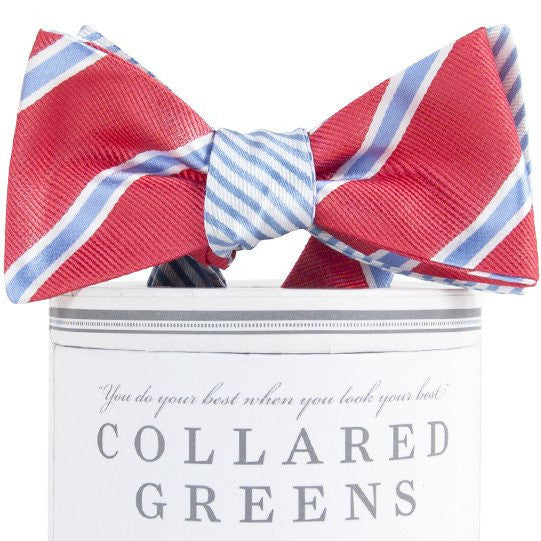 Class Class Class Mixer Bow Tie-Salmon/Carolina