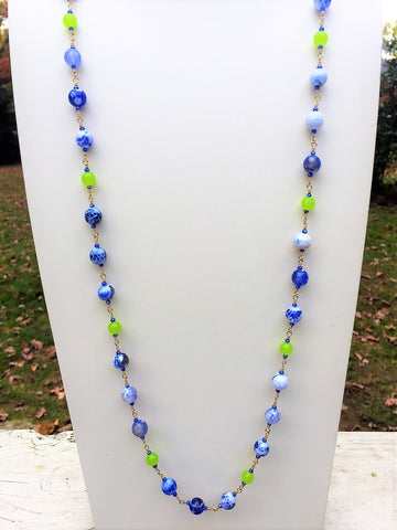 Simple Agate Beaded Necklace