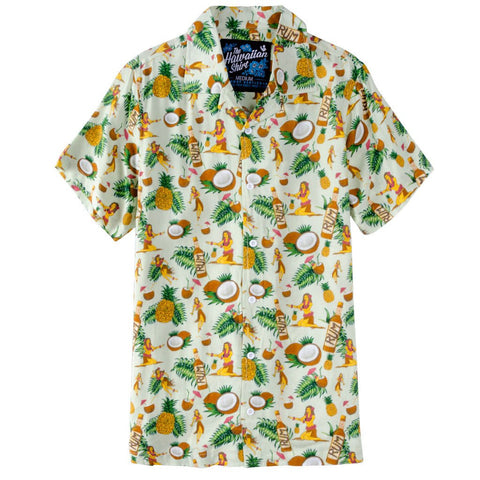 I'm In Love with the Coco Hawaiian Shirt- Light Green