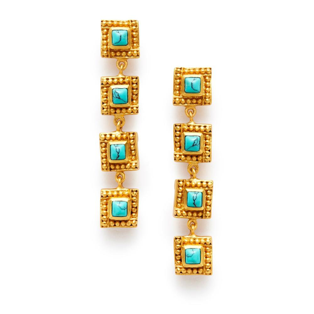 ISABEL TIERED EARRING - TURQUOISE