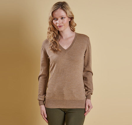 Ladies Classic V-Neck - Camel
