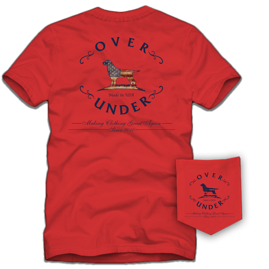 Over Under Short Sleeve Tee - Regatta Red