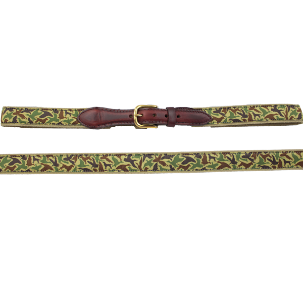 Youth Ribbon Belt - Old School Camo