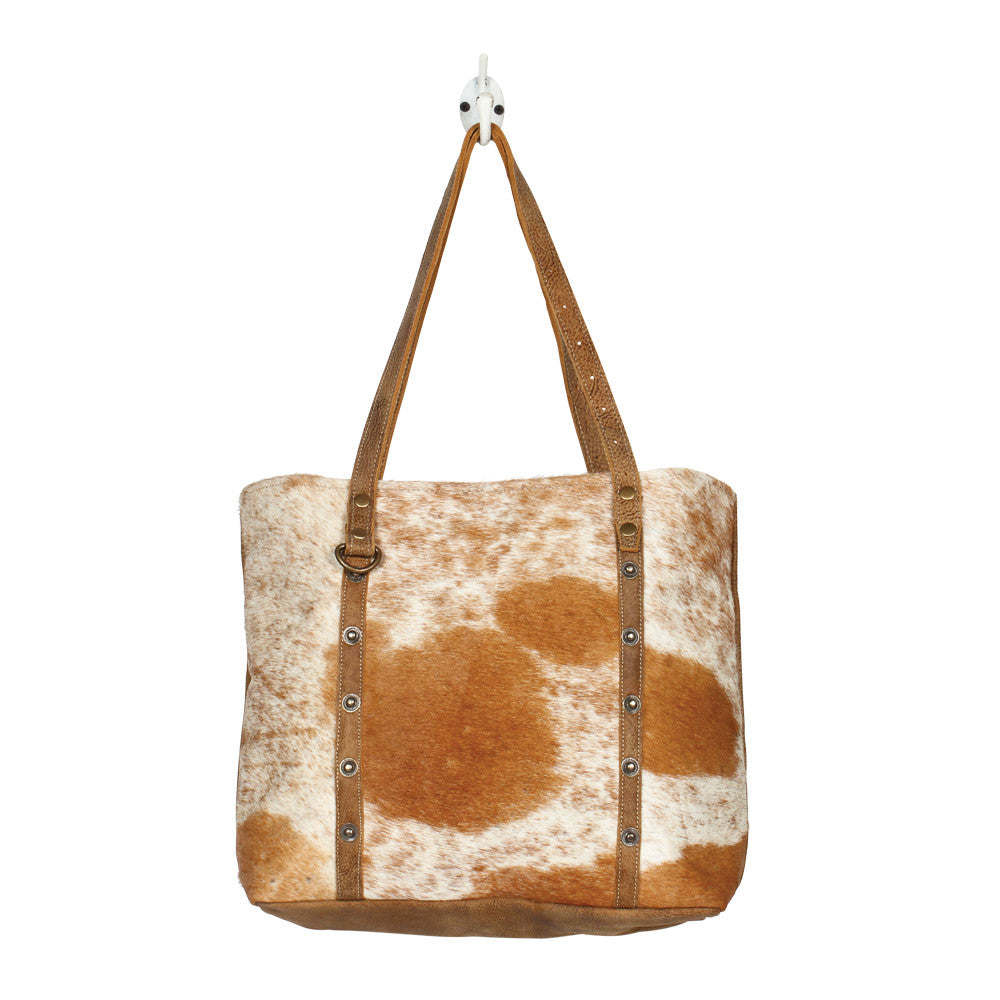 Opulent Cowhide & Leather Tote Bag