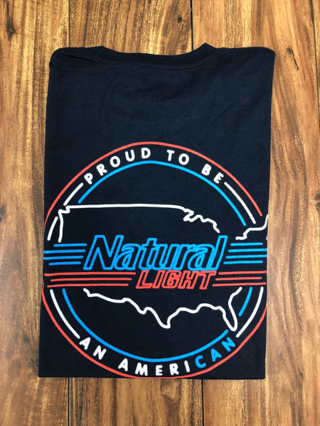 Proud to be an AmeriCAN Short Sleeve Pocket Tee - Dark Navy