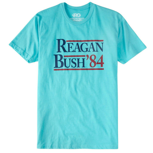 Reagan Bush Short Sleeve Pocket Tee - Teal