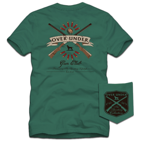 Over Under Gun Club Short Sleeve Tee - Palmetto Green