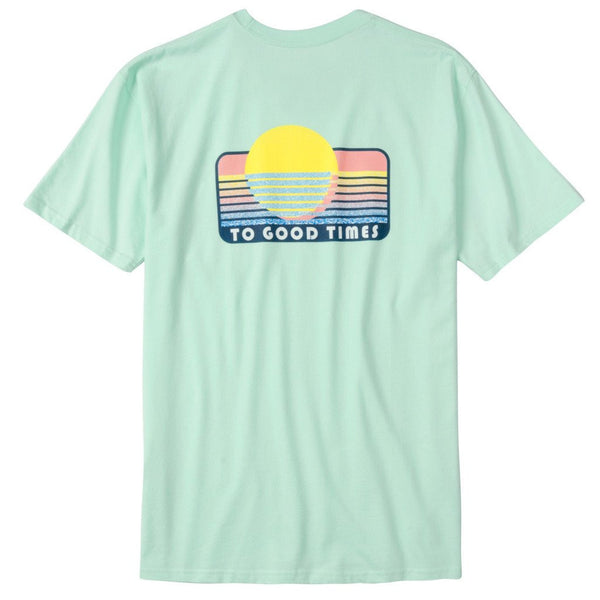 Playa Del Rowdy Short Sleeve Pocket Tee - Honey Dew