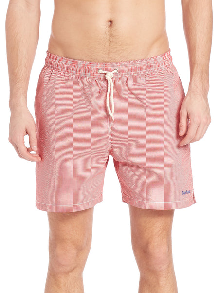 Striped Swim Short - Red