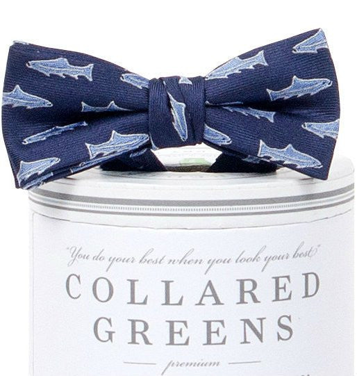 Boys Trout Bow Tie Navy - Toddler