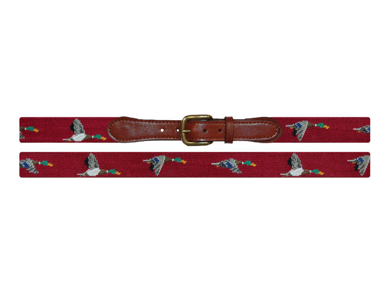 Mallard Needlepoint Belt