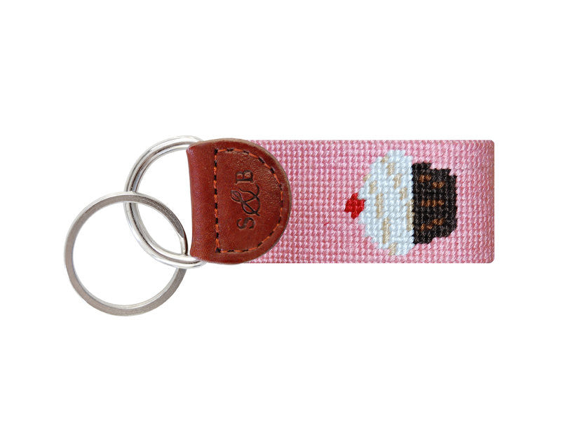 Cupcake Needlepoint Key Fob