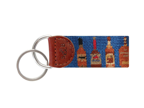 Bourbon Needlepoint Key Fob