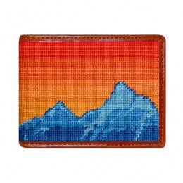 Mountain Sunset Needlepoint Bi-Fold Wallet