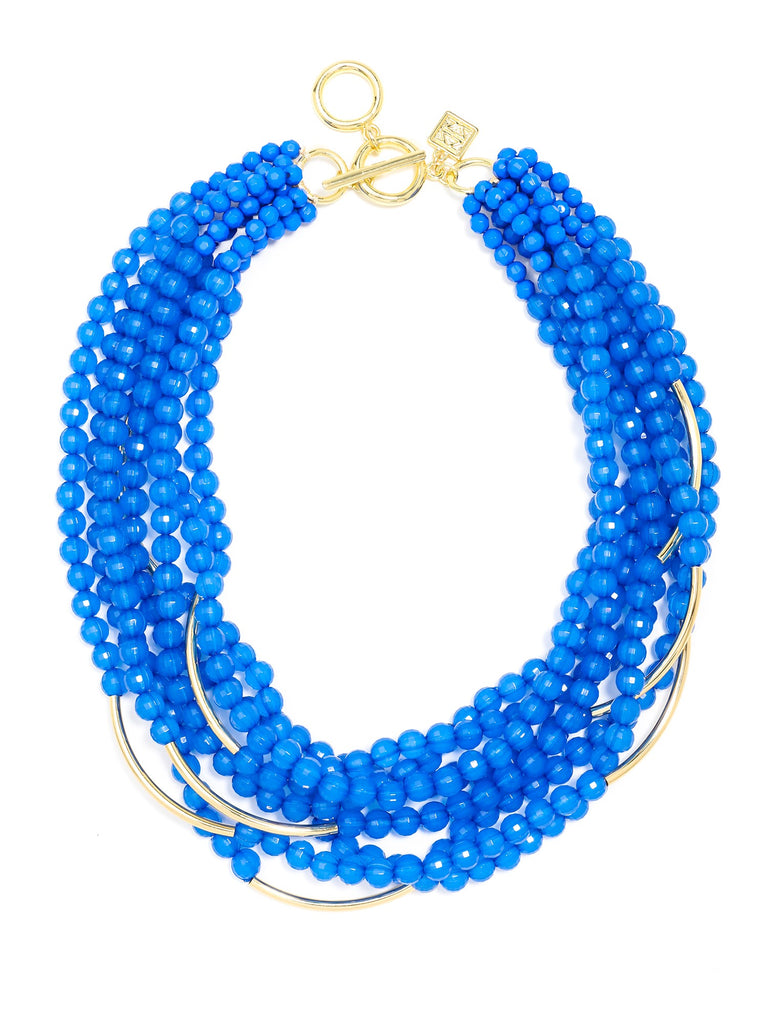 Zenzii Multi Strand Translucent Beads Necklace